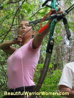 archery woman, pink, bow and arrows, bow, arrow, target, target focus, training, practice, archery, women's archery